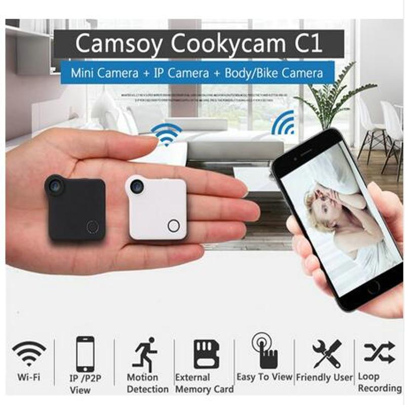 C1 Mini Macchina Fotografica DVR Wifi IP di P2P 720 P HD H.264 Mini macchina fotografica Senza Fili Action Cam Bike Camera Mini DV Video Camera Recorder