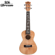 23 inch Small Acoustic Guitar  4 Strings Full Okoume Tiger Classical Ukulele 18 Frets Musical Stringed Instruments Guitar UC-B7D small guitars 23 inch 4 strings ukulele full flame maple classical guitar acoustic guitar profession musical instruments uc a6