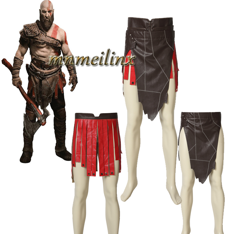 Halloween Game COSPLAY God of War Battle Leather Apron Leather Skirt Cosplay Costume Protective Apron Costumes Kratos Customize