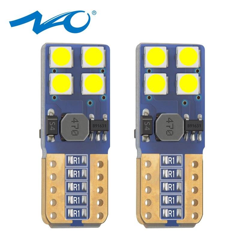 NAO Car LED 8smd W5w 3030 Amber T10 Led-Bulb Reading-Light 12v Blubs Chips White Red