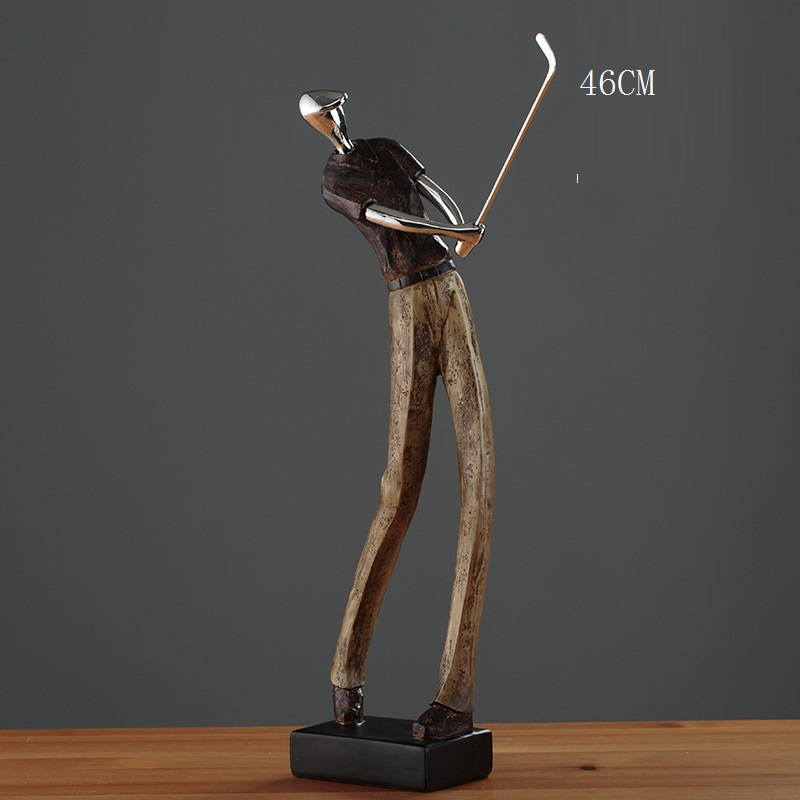 Modern Simplism Style Golf Statue Sculpture Figurines Resin Miniatures Ornaments Craft for Home Decoration Toys Gift R1385 image