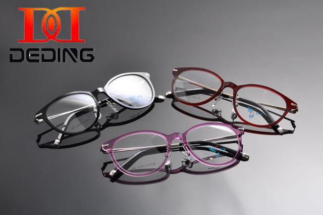 Deding mulheres pei ultem óculos armações de óculos de olho para o uso de lentes de miopia presbiopia óculos full frame w/non prescription lens dd1241
