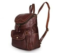 купить Women Backpacks Genuine Leather 2018  School Bags For Teenagers Girls Leisure Backpacks Female  Travel books Rucksack Backpack по цене 7249.1 рублей