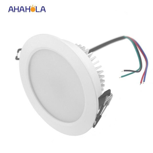 Home Lighting Down Lights Circuit On Rcd: External Control Dc 12v Ceiling Led Downlight 9w Rgb Spot
