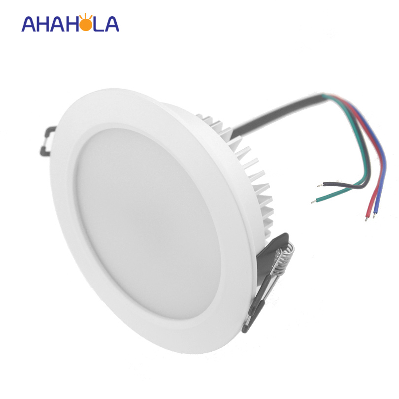 external control dc <font><b>12v</b></font> ceiling <font><b>led</b></font> <font><b>downlight</b></font> 9w rgb spot <font><b>led</b></font> down light lamp surface recessed for home decoration 5pcs/lot image