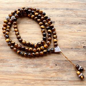 Image 1 - Handmade 6mm Natural stone bead with Alloy charm Shape 99 Prayer Beads Islamic Muslim Tasbih Allah Mohammed Rosary for women men