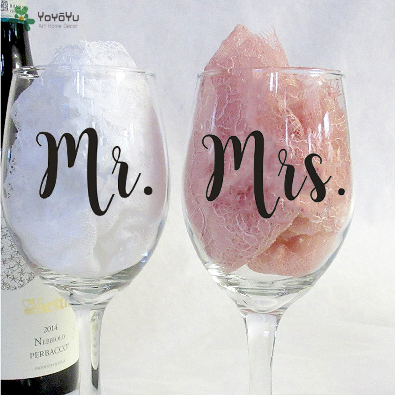 c320898d012 Detail Feedback Questions about 12pcs/set Mr and Mrs Wine Glasses Sticker  Newlyweds Engagement Wedding Gift Champagne Glass Decal Wedding Decoration  QQ516 ...