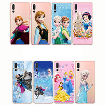 Castle Princess White Snow Prince Cartoon Phone Case Back Cover Silicone Soft for Huawei P20 P30 Lite Pro P9 mini