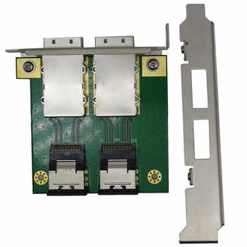Dual Mini SAS 26 Pin SFF-8088 to SAS 36 Pin SFF-8087 Adapter PCI Card Bracket