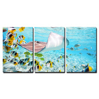 Canvas Wall Art Fish Underwater Ocean Painting Prints Colorful Poster for Bathroom Bedroom Living Room Wall Decor Drop shipping
