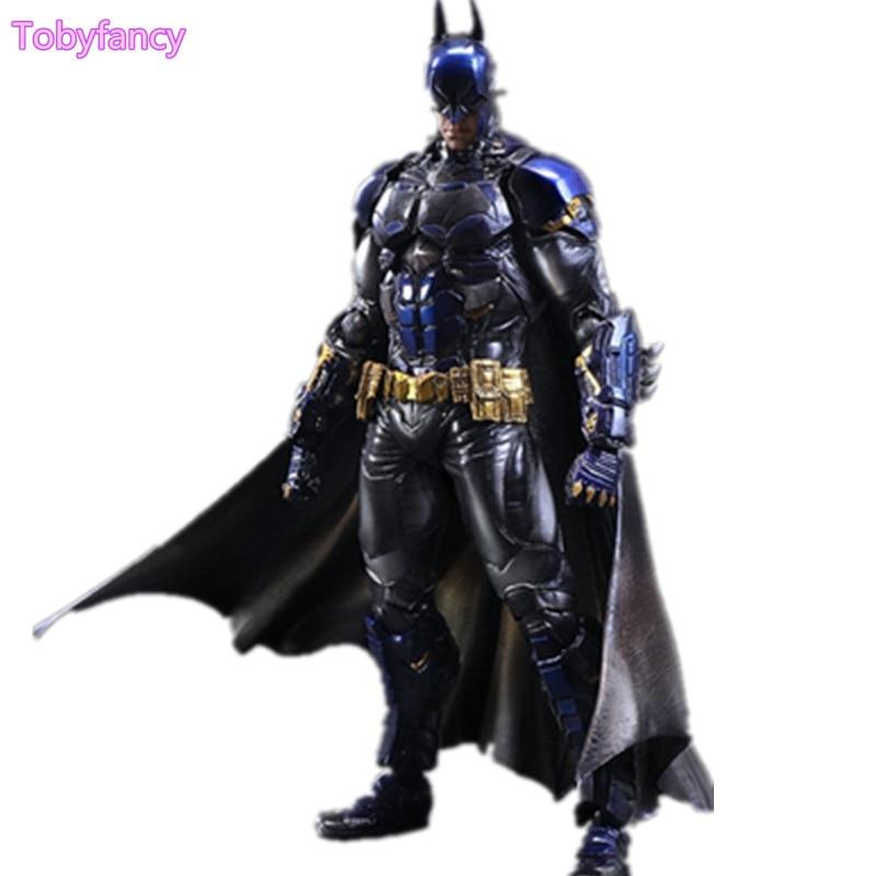 Batman Playarts Kai Anime Toy Action Figure Arkham Blue Ver. Play Arts Kai 260mm Collection Model Toys Batman Joker limited 18cm high classic toy forrest gump batman arkham asylum action figure toys