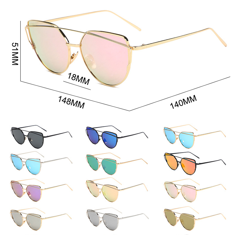 Psacss Metal Cat Eye Sunglasses Women Vintage Multicolor Glasses Brand Designer Women 39 s Retro Mirror Lunette De Soleil Femme in Women 39 s Sunglasses from Apparel Accessories