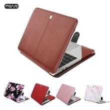 Mosiso capa de couro pu para macbook, case protetor para laptop, para macbook, air, 13 polegadas, 2018, a1932, novo pro, 13 com barra de toque a1706/a1708