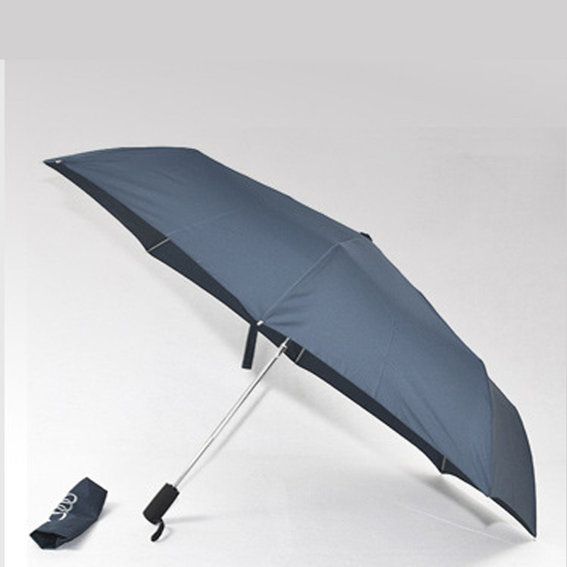 Haute qualité soleil Tube parapluies pour Audi Umrella trois pliant hommes automatique parapluie mâle parapluie pluie femmes petit parapluie 5R
