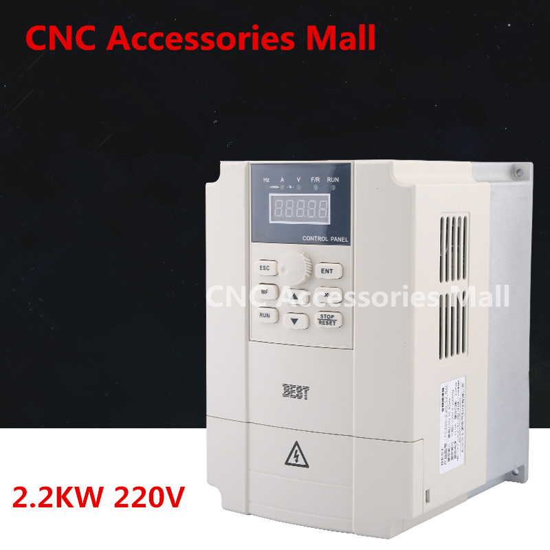 цена на 2.2kw 220V BEST Frequency Inverter VFD Variable Frequency Drive for spindle motor