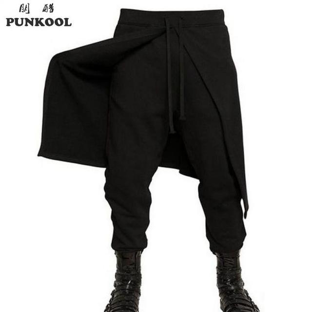 punkool 2017 brand cool mens gothic punk style harem pants
