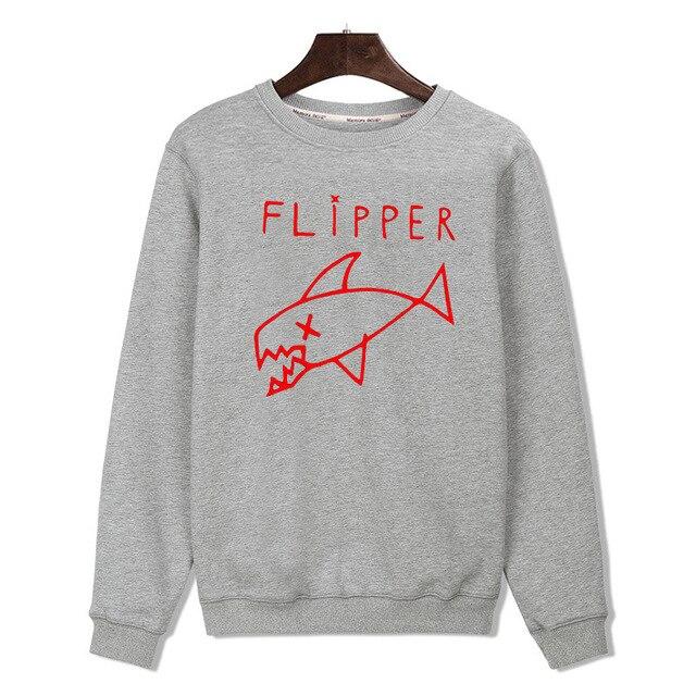 c24ba0c7bff Cartoon Flipper Fish new hoodies men brand designer mens sweatshirt men in  3xl harajuku sweatshirt autumn Black gray XXS