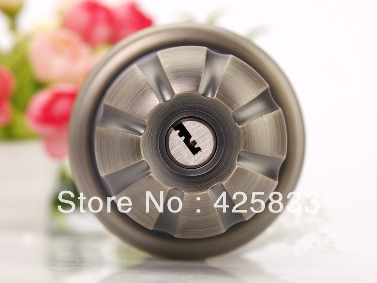 Free Shipping Cylinder Stainless Steel 304 Zinc Alloy Recessed Cup Privacy Sliding Door Locks Antique Lock