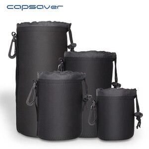 Image 1 - Capsaver 4 adet/grup yüksek kaliteli neopren kamera Lens çantası seti kalın koruyucu yumuşak torbalar çantası çantası Canon Nikon Sony için