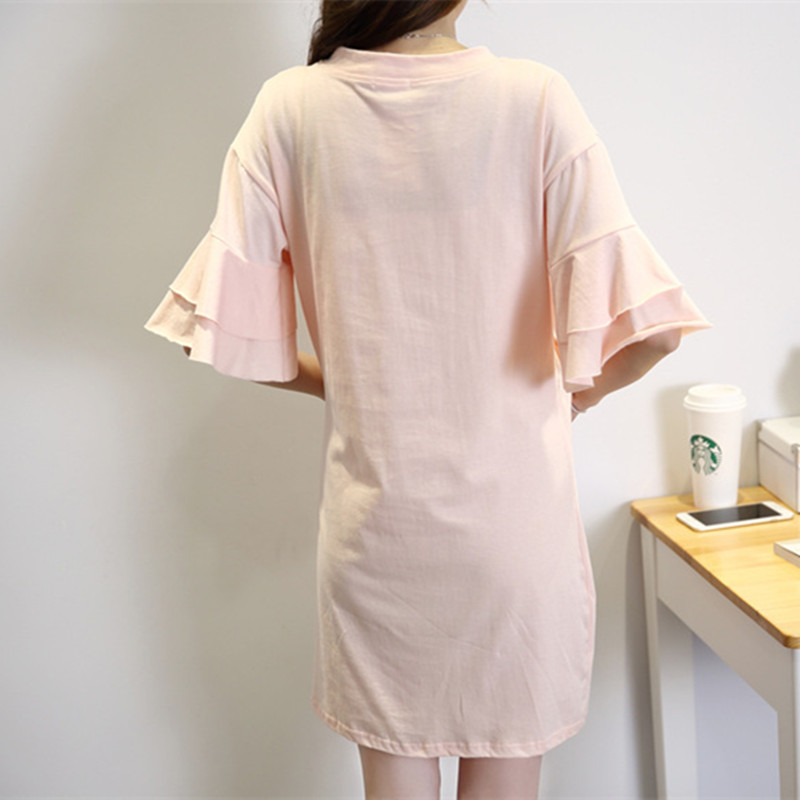 2018 Spring Summer Printing Expectant Mother Maternity Dress Casual Cotton Nursing Dress Short Sleeve Pregnant Women Clothes