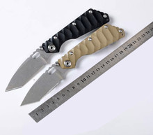 HOT!!!5Cr13Wov Blade Positive G10/Opposite stainless steel (nc) Handle Folding knife Survival Camping Hunting EDC Utility Tools