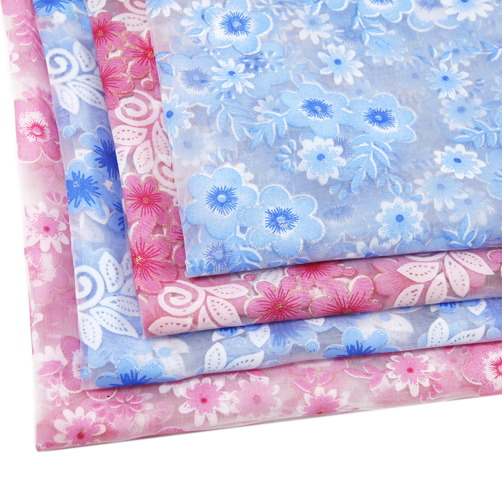 50*130CM flower patchwork printed gauze fabric for Tissue Kids Bedding home textile for Sewing Tilda Doll,wedding gift ,c809