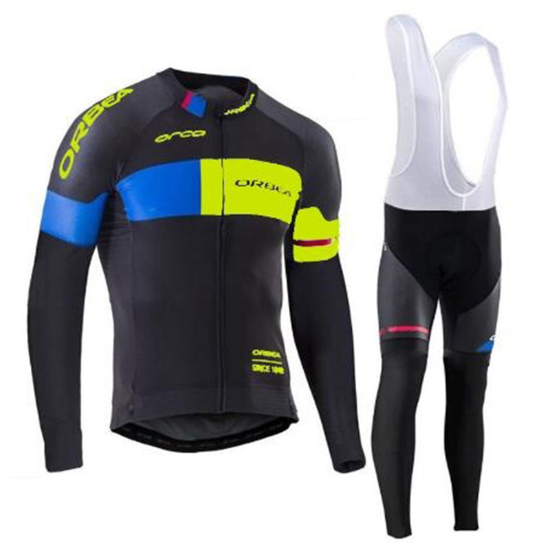 2017 Pro Team ORBEA Cycling Clothing Long sleeve Autumn Men Cycling jersey MTB bike maillot Ropa Ciclismo outdoor Sportwear