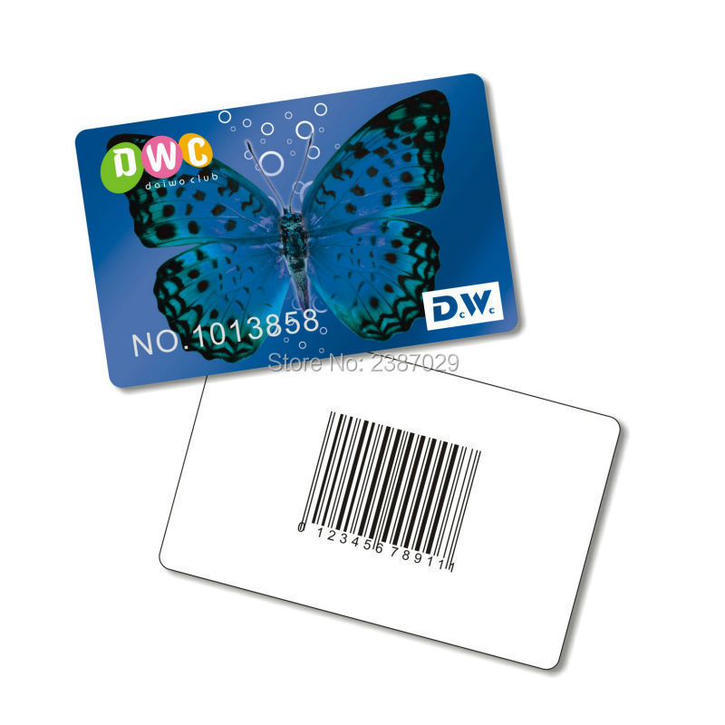 ean13 футболка от ean13 54657 Plastic EAN13 Code39/128 Card Loyatly System PVC Gift Barcode Card