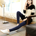 Pregnant women autumn wear leggings han edition lace leggings cultivate one's morality show thin elastic pants of pregnant woman