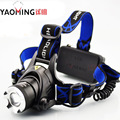 New selling CREE XM-L XML T6 2300LM waterproof 3 modes focus adjustable headlight  Cree led headlamp head light by 2 x 18650