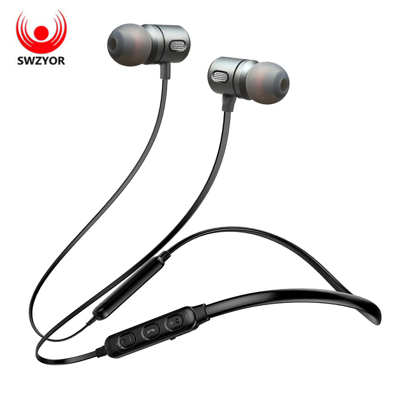 SWZYOR T11 Cuffia Senza Fili del Trasduttore Auricolare di Bluetooth Per Il Telefono Con Archetto Da Collo di Sport Bass Auricolare Auriculare CSR Bluetooth 4.1