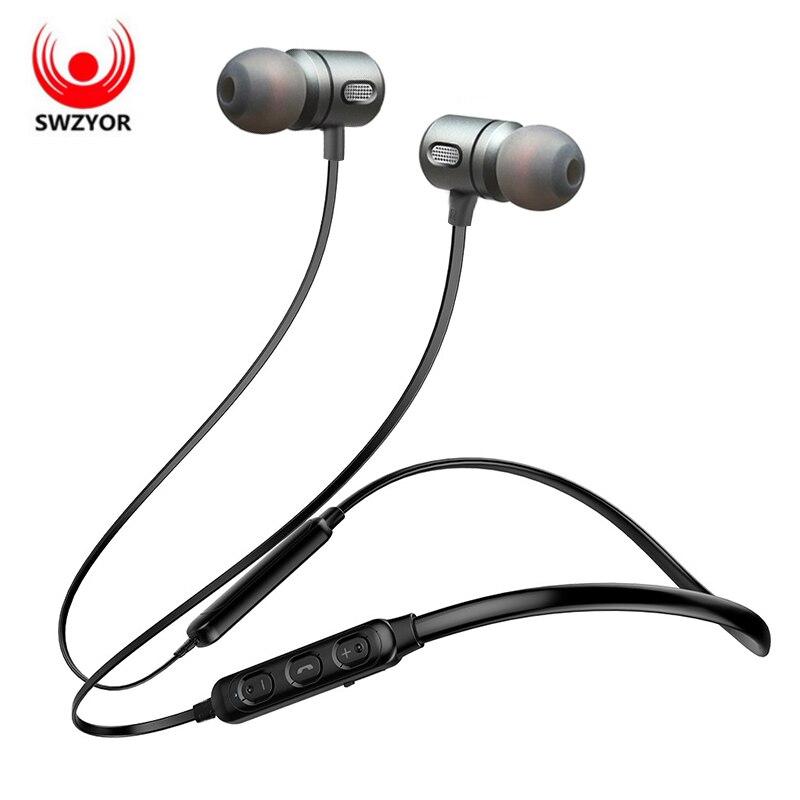 SWZYOR T11 Sans Fil Casque Bluetooth Écouteur Casque Pour Téléphone Neckband Sport Basse Écouteurs Auriculare RSE Bluetooth 4.1