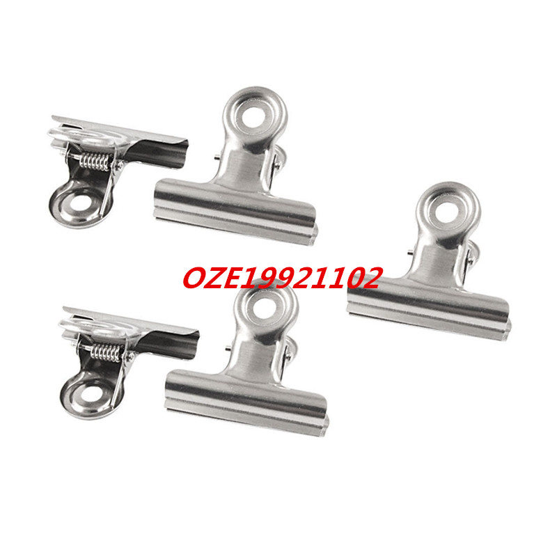 "2"" Width Silver Tone Metal File Binder Clips Clamps-in"
