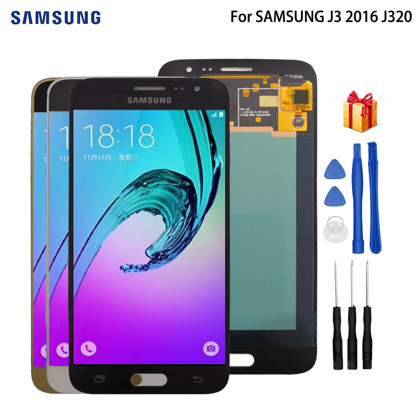 AMOLED LCD For SAMSUNG J3 2016 LCD Display Touch Screen Digitizer Display For SAMSUNG GALAXY J3 2016 J320 J320FN Screen LCD