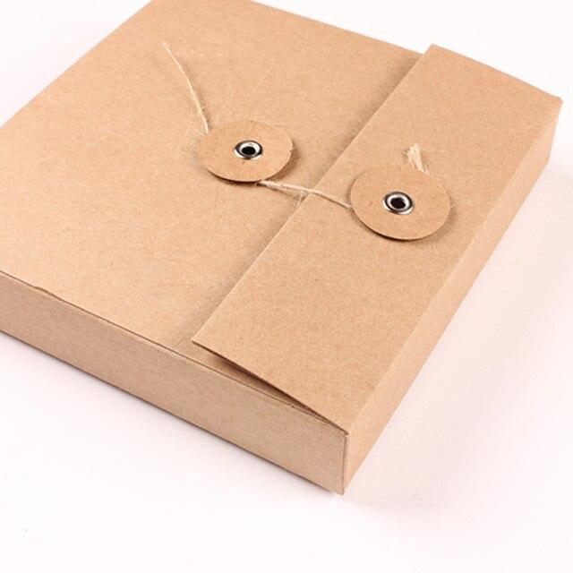 Creative Kraft Paper CD DVD Storage Box, 5 Kraft Paper CD DVD Envelope  Cover,