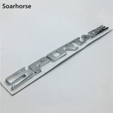 Soarhorse Car Rear Trunk Emblem For Kia Sportage 3D Silver Letters Logo Badge Nameplate Decoration Sticker