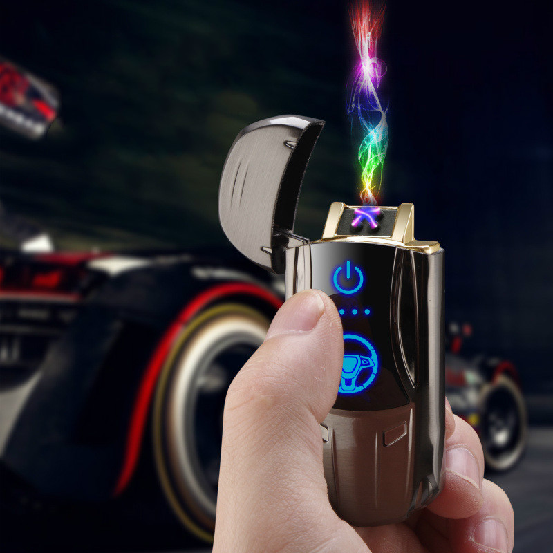 New Metal Creative Cool Sports Car Intelligent Induction Double Arc Lighter Advanced USB Charging Cigarette Lighter men's gift|Cigarette Accessories| |  - title=