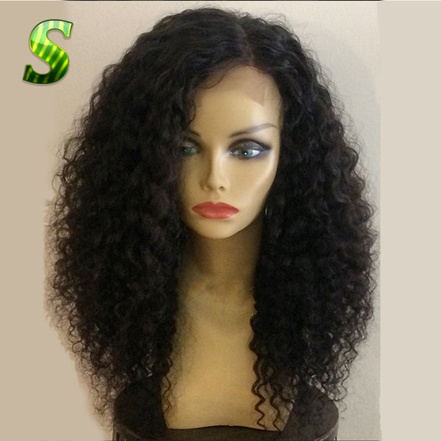 Deep Curly Full Lace Wigs Brazilian Virgin Hair Lace Front Human Hair Wigs Glueless Full Lace Human Hair Wigs For Black Women