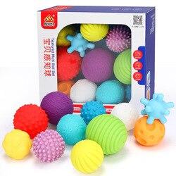 6-11 шт текстурированный мульти мяч детский Набор развивает тактильные ощущения игрушка ребенок сенсорный Прорезыватель зубов в виде руки м...
