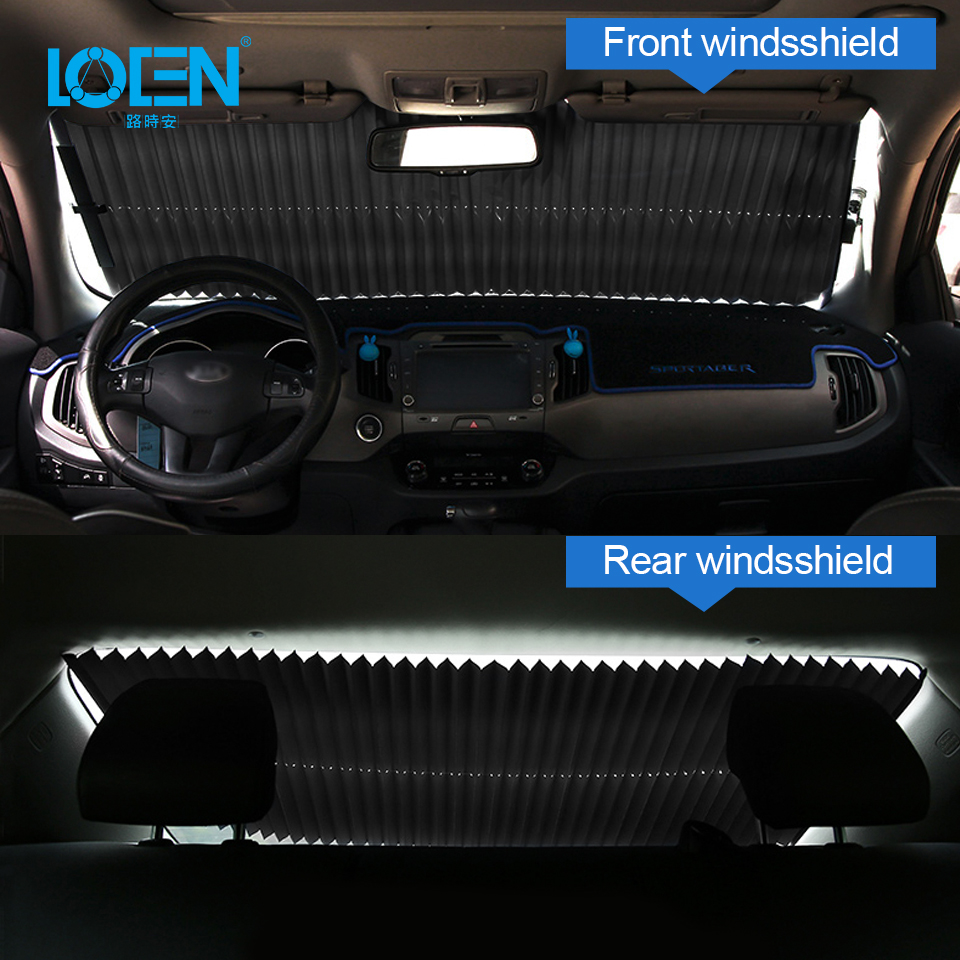 Image 5 - Car Window Sunshade Retractable Windshield Sunshade Cover Shield Curtain Foldable Auto Sun Shade Block Anti UV Car Window Shade-in Windshield Sunshades from Automobiles & Motorcycles