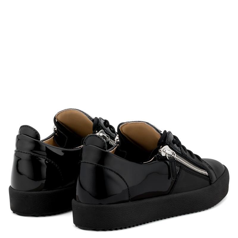 Alto 45 Low Show Preto Metal Plana Unisex Sapato Novo salto As Confortável Sapatos Zíper Tamanho Homem Sapatilhas Plataforma Estilo Designer Feminino De Ocasionais y77SRnw6q