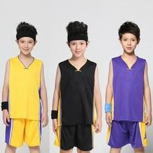 ФОТО boy summer basketball jerseys set kid outfit custom designed children summer clothes