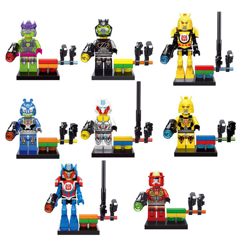 2018 NEW Marvel Superhero Spiderman Transformation Robot Turtles Building Blocks Christmas gifts Star Wars Ninja go Movie Series