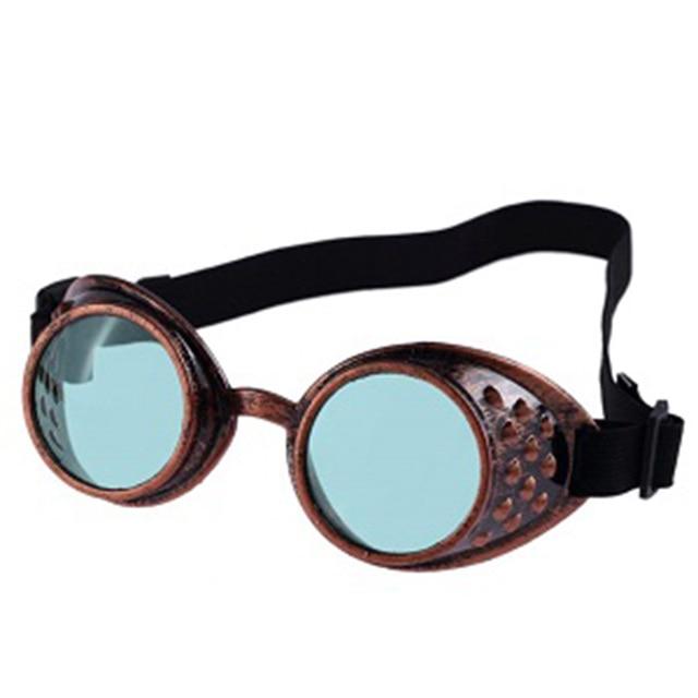 Lunettes de soleil style vintage Steampunk, lunettes de cosplay cosplay de soudage (Noir)