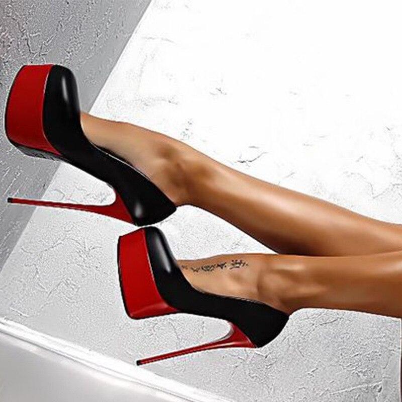 Talons Aiguilles 40 De Super Grande Imperméable Dames Femmes 34 Hauts Plateforme Avancée Cm Mode Sexy Taille Chaussures Discothèque 16 YFZUq