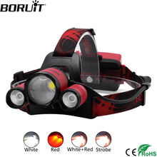 BORUiT B22 XM-L2 + XPE RED Light LED Headlamp 4-Mode Zoom Headlight Rechargeable Power Bank Head Torch Hunting 18650 Flashlight boruit t6 4 q5 led motion sensor headlamp 60000lumens rechargeable headlamp 4 mode zoom head torch by 18650 battery flashlight