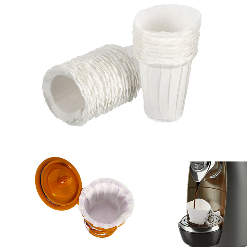 morden design 30pcs keurig 20 disposable paper filter starter pack fits k carafe coffee filter