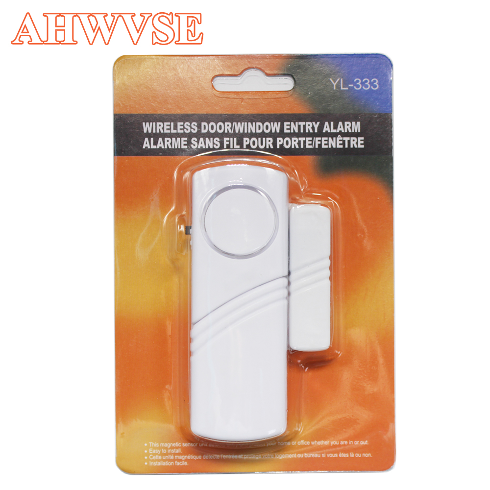 2020 Door Window Sensor Wireless Burglar Alarm With Magnetic Sensor Home Safety Wireless Longer System Security Device White
