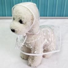 Capa de chuva transparente para cachorro, casaco à prova d água para chuva, primavera/verão XS XL, acessórios para animais de estimação, filhote de cachorro