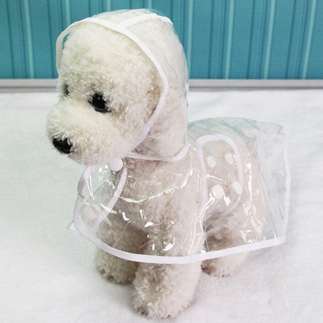 Impermeables capas impermeables transparentes XS XL chubasquero para perros, ropa ligera para perros, accesorios para mascotas, lluvia para cachorros